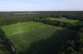 Voetbalveld op Papendal